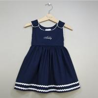 Navy And White Pique Dress