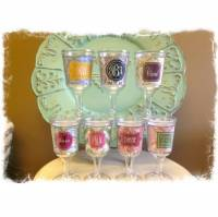Monogrammed Acrylic Wine Goblets