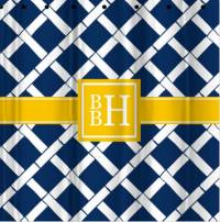 Monogrammed Shower Curtain All Patterns  . . .