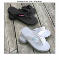 Personalized Bride And Bridesmaid Flip-Flops