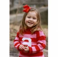 Hand Knit Monogrammed Sweaters For Children