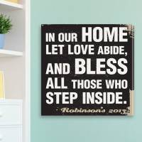 Antique Style Personalized Prayer Canvas  . . .