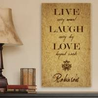 Personalized Live Every Moment Canvas Print