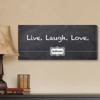 Personalized Live, Laugh, Love Chalkboard  . . .