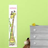 Personalized Girly Growing Giraffe Height  . . .