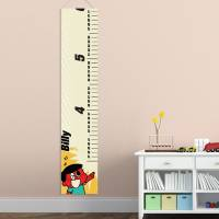 Personalized Retro Boy's Growth Chart
