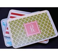 Monogrammed Melamine Tray 9 X 14 Inches
