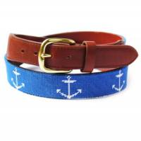 Anchor Needlepoint Belt For A Nautical Look