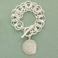 Double Link Charm Bracelet With Larger  . . .