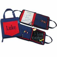 Red And Blue Doodlebag