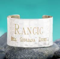 Engraved Family Cuff In Silver And 1.5  . . .
