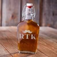 Personalized Vintage Mustache Flask
