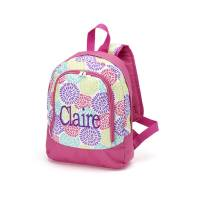 Monogrammed Bloom Small Backpack