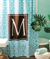 Monogrammed Shower Curtain Or Curtain  . . .