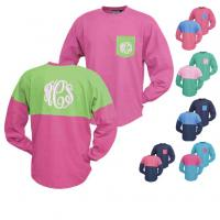 Monogrammed Contrast Colored Pocket And  . . .