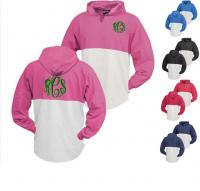 Monogrammed Contrasting Colored Panel Hoodie
