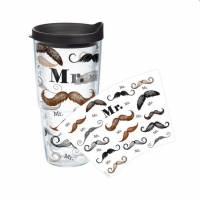 Tervis Mr. Mustache Tumbler In 16 Oz Or 24  . . .