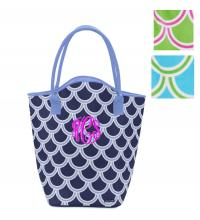 Monogrammed Eva Tote In Harbor Bae And  . . .