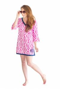 Monogrammed Pink Aztec Tunic