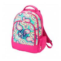 Monogrammed Mint Paisley Backpack With  . . .