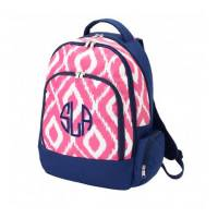 Monogrammed Pink Ikat Backpack With Tablet  . . .