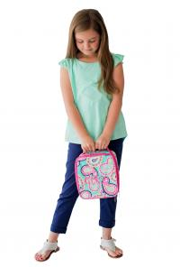 Monogrammed Mint Paisley Lunch Bag