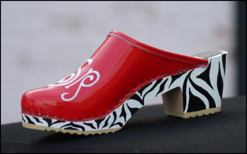Red Patent With Zebra High Heel