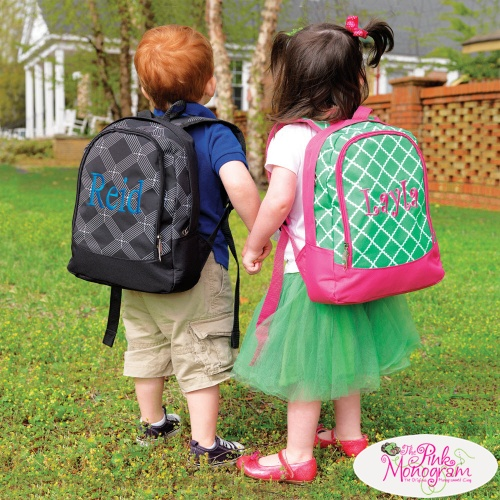 Monogrammed Preschool Backpacks