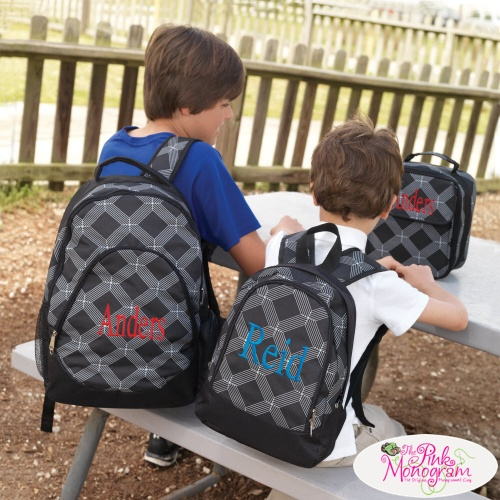 Monogrammed Backpacks For Boys