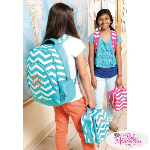 Monogrammed Backpacks And Lunch Totes