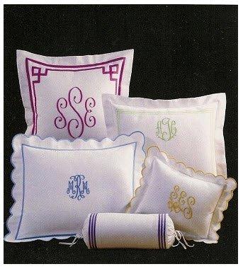 Monogrammed Bed Shams Set Of 2 From Jane Wilner Desig