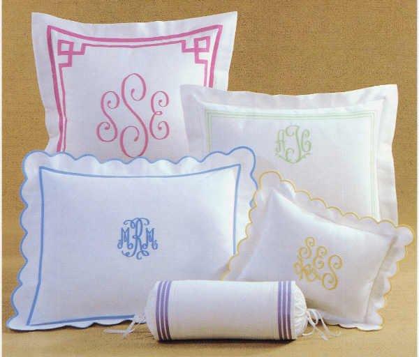 Monogram A Pillow: Monogrammed Boudoir Pillow From Jane Wilner Designs