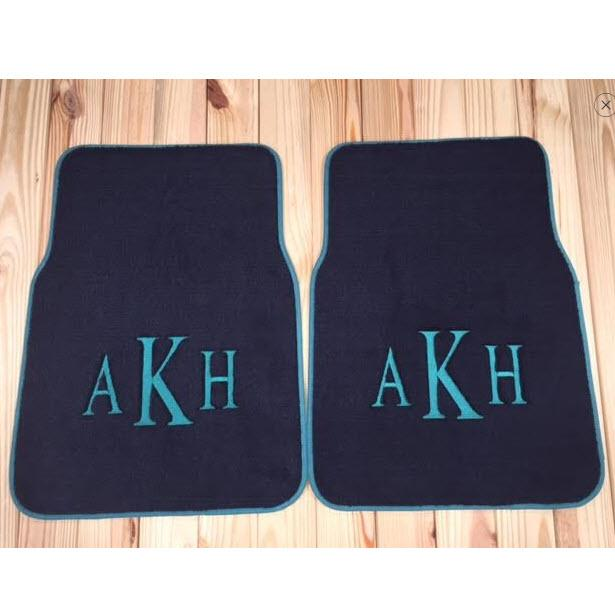 Monogrammed Floor Mats >> Monogrammed Car Mats - Rear-Wheel Drive Cars