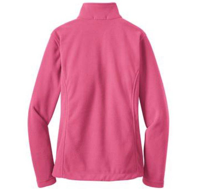 monogrammed ladies full zip fleece jacket 12 colors