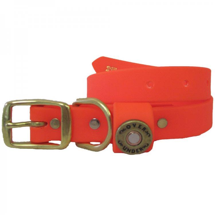 personalized durahide blaze orange water dog collar
