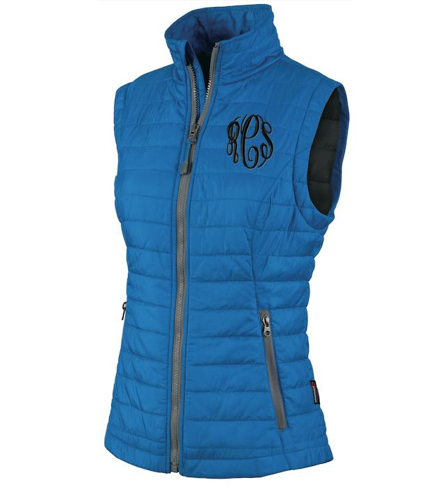 Monogrammed Ladies Radius Quilted Vest In All Colors