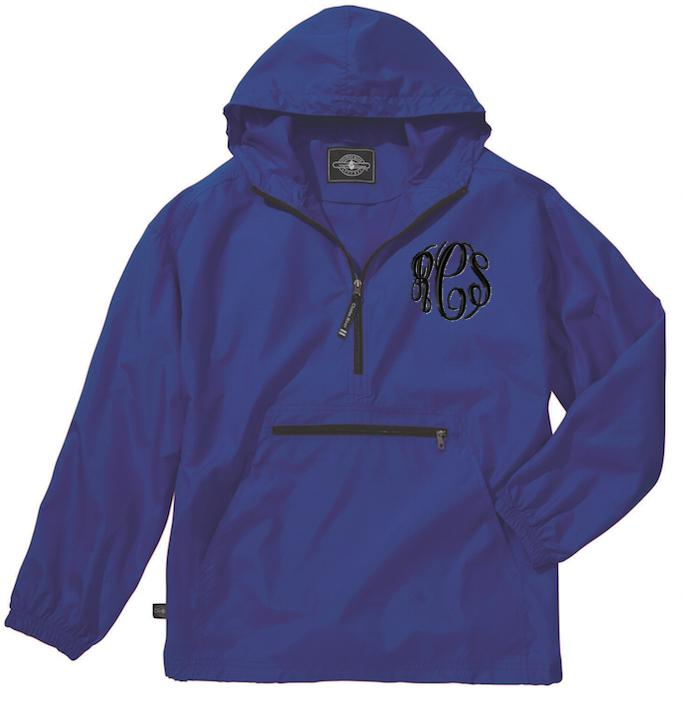 Monogrammed Youth Pack And Go Rain Jacket