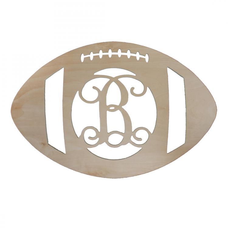 personalized wooden football door monogram