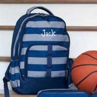 Personalized Greyson Striped Backpack