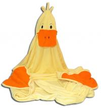 Monogrammed Ducky Child's Bath Towel