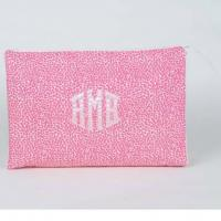 Monogrammed Large Zippered Cosmetic Bag By Talley Ho Designs