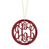 Acrylic Round Rimmed Pendant