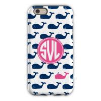 Whale Repeat Navy Cell Phone Case