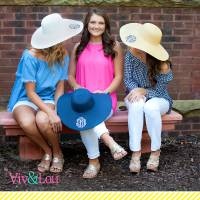 Monogrammed Ladies Floppy Sun Hat Several Colors