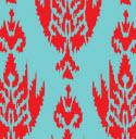 8009 Ikat Red