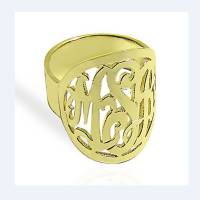 Monogrammed Ring with Border