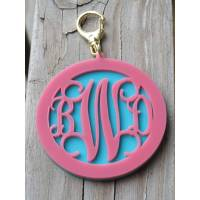 Layered Purse Charm Vine Font