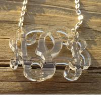 Floating Vine Font Necklace