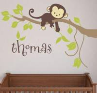 Fabric Monkey Branch Decal