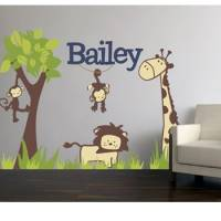 Fabric Its a Jungle Wall Decal